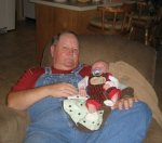 My Daddy and the new center of his universe, my nephew Mason.
