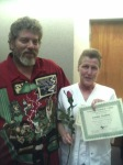 """This is Mama and Rob, my stepdad, at Mama's graduation from """"eye school."""""""