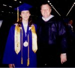 Beth and I at graduation 1998. She was Co-Valedictorian and one of the best students I ever taught.