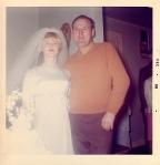 My beautiful mama and my devilishly handsome Papa John on Mama and Daddy's wedding day.