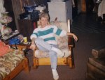 """Mama in our """"Little Barn"""" sometime around the late '80s, I think."""