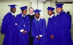 If I've never done anything else right in my life, I got these five boys through high school. I taught them 3 of 4 years. L-R is Travis, Landon, me, Ray, Vince, and Rico.