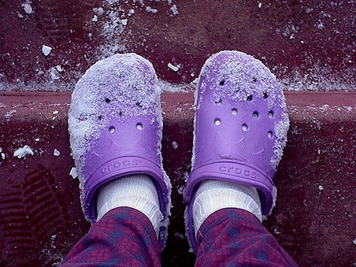 Why I Wear Crocs and Shorts in Winter (1/6)