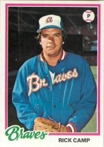 My Rick Camp 1978 Topps baseball card.