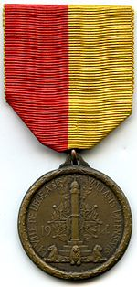The Liege Medal awarded to the 1914 defenders of Liege's forts