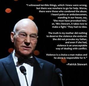 Patrick Stewart - Domestic Violence